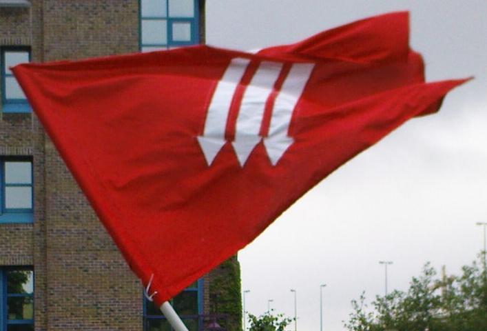 Replikat der Fahne der Eisernen Front